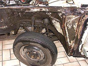 Oldtimer Restaurierung Audi 60L